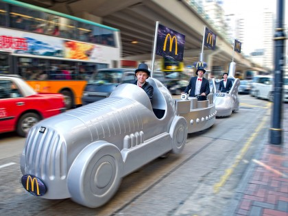 Street Marketing – McDonald's Promotion Monopoly Trikes