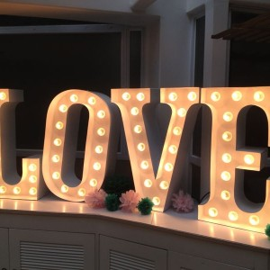 Love Sign marquee light 2