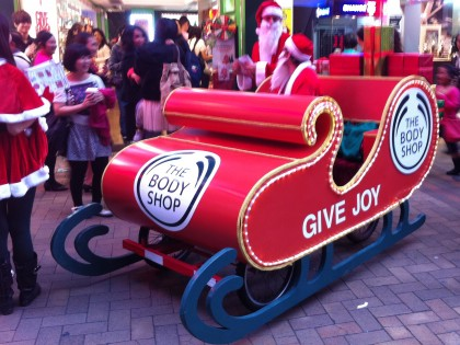 Santa's Sleigh, Body Shop Xmas Promotion