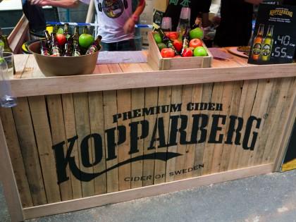 Kopparberg Stall at Lan Kwai Fong Beer Festival